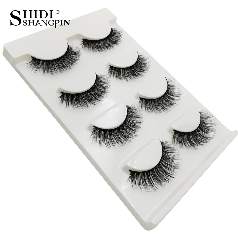 HTB1EacraULrK1Rjy1zbq6AenFXaP Natrual long 3D Mink False Eyelashes wholesale 4 pairs Fluffy Make up Full Strip Lashes 3D Mink Lashes faux cils Soft Maquiagem