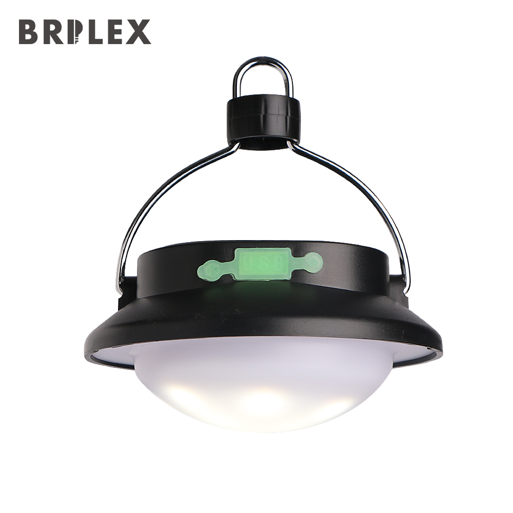 BRILEX Lanterns Portable Solar Lantern LED Rechargeable Dimmable IP65 Waterproof for Camping.