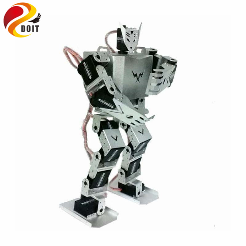 DOIT Humanoid Robot Biped Robotic with 17pcs Servos for DIY Robot Project soldier king 16dof smart humanoid robot frame kits contest dance biped robotics with servos for diy unassembled