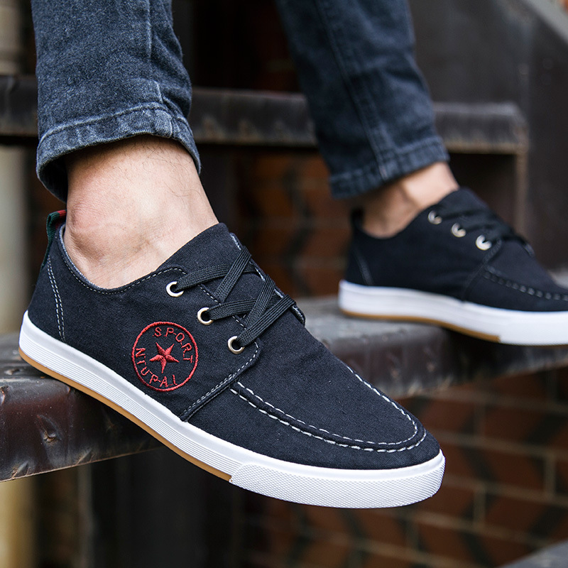 New Arrival Men Shoes Spring High Top Brand Canvas shoes Mens High Quality Denim Shoes zapatos