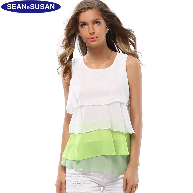 sean&susan Sleeveless Shirt Sexy Summer Women Tank Tops