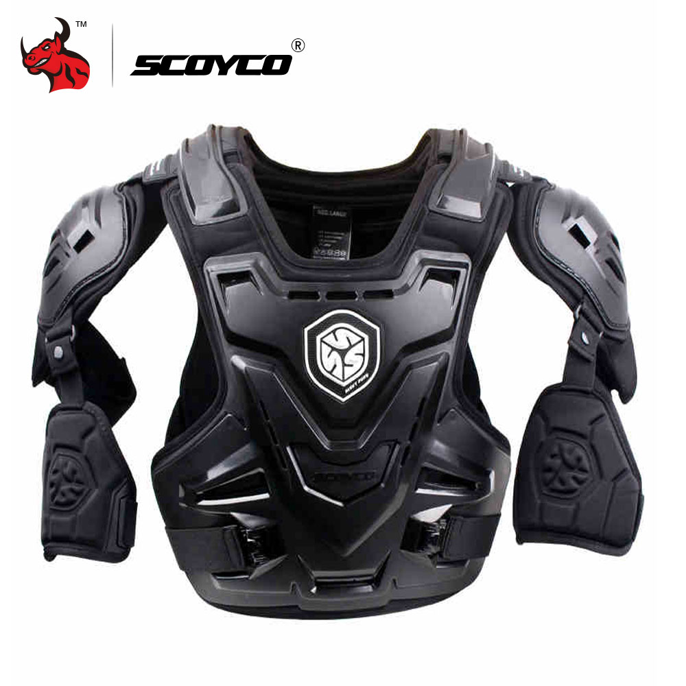 SCOYCO CE Motorcycle Armor Motocross Chest Back Protector Armour Vest Motorcycle Jacket Racing Protective Body Guard MX Armor scoyco k11h11 motorcycle sports knee elbow protector pad guard kit black