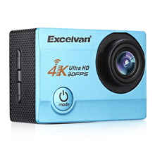 Action Camera Excelvan Q8 Action Camera 4K 30FPS 16MP WiFi H.264 30m Waterproof 170 Wide Lens Action DV Sports Camera