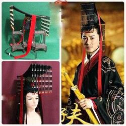 Lin Feng 2 Disegni Antico Cinese Emperer Trono Cappello Testiera per la TV Gioco Grande Han Wei ZiFu Tradizionale Abito Da Sposa Sposo cappello