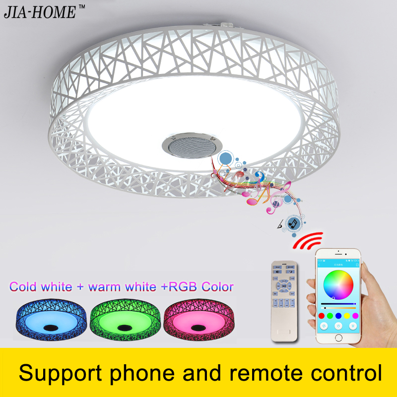 Music Led light ceiling with Bluetooth speaker and remote control Music round flush mount lamp for office ceiling light fixtures