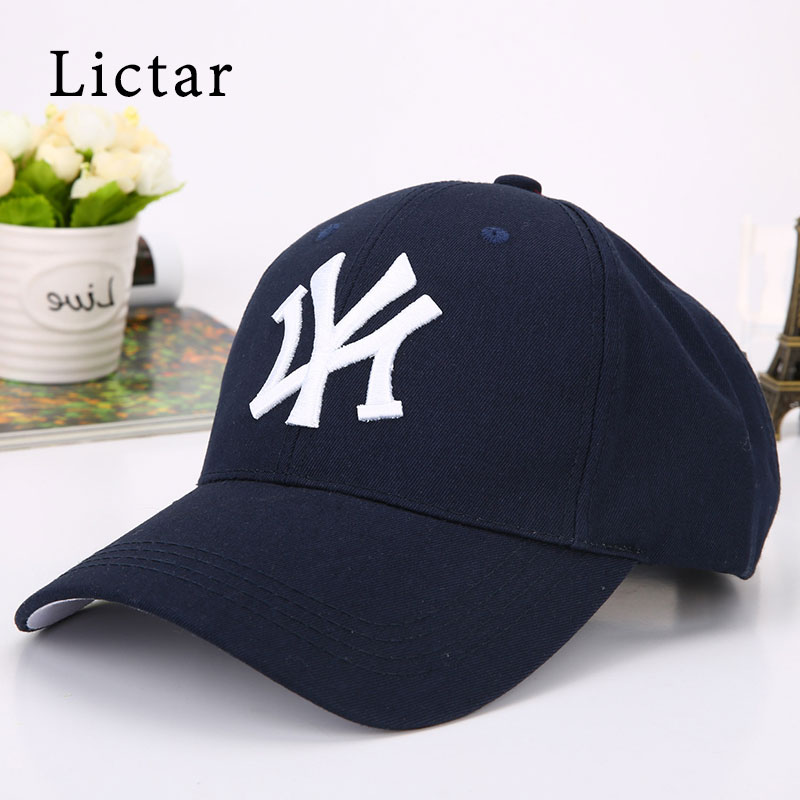 Lictar Fashion 2018 New Baseball Caps NY Hats Men Women Cotton Unisex Snapback Caps Hip Hop Letter Cap Casual Soft Sports Hats 2016 new unisex solid knit beanie hat winter sports hip hop caps for men and women bonnet gorros 20 colors for choose