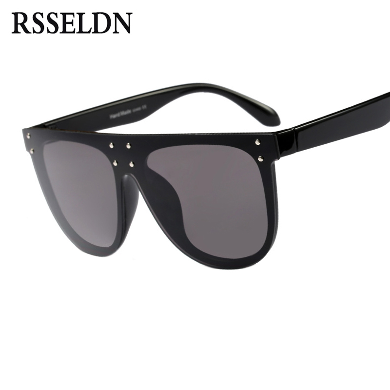 RSSELDN 2018 di Grandi Dimensioni Occhiali Da Sole Quadrati Delle Donne 2018 di Lusso Del Progettista di Marca Vintage occhiali da Sole Femminile di Stile del Ribattino di Occhiali UV400