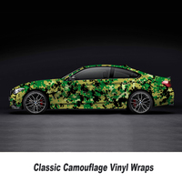 5/10/15/20/25/30m*1.52m PVC Self adhesive Camouflage Car Sticker Wrap Vinyl Film Camo Army Green Automobiles Motorcycle Decal