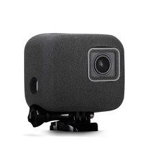 Mousse pare brise pare brise boîtier pour GoPro Hero 5/6/7 2018 noir caméra éponge protéger coupe vent capuchon vent réduction du bruit