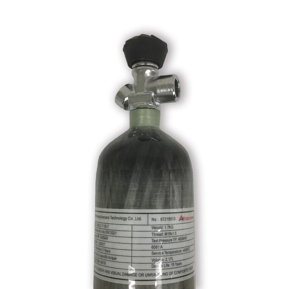 AC121731 New PCP Condor 2.17L 300bar 4500psi Mini SCUBA  Tank Gas Cylinder Carbon Fiber With Valve Drop Shipping 2019 Acecare