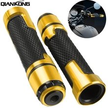 For Yamaha XJR 1300/RACER mt-09 MT10 2016 7/8 CNC plastic Universal Motorcycle Handle Handlebar Hand Bar Grip hand grips