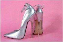 16 CM Absatzhöhe Sexy Spitzschuh Stiletto Pumps Partei Schuhe Metall ferse No.108s
