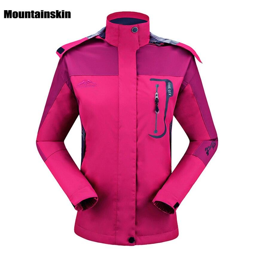 Prix pour Mountainskin Femmes de Printemps Respirant Vestes Sports de Plein Air Coupe-Vent Imperméable Escalade Randonnée Trekking Femme Manteaux RW090