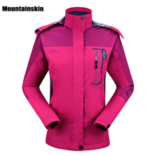 Mountainskin Women's Spring Breathable Jackets Outdoor Sports Windproof Waterproof Climbing Hiking Trekking Female Coats RW090
