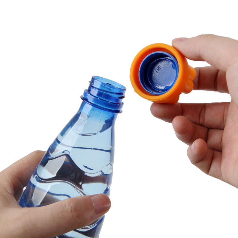 1pcs Creative Non-slip Silicone Bottle Opener Capping Lid Opener Mineral Water Bottles Opener Home Gadgets Tools