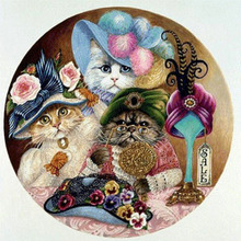 New Full Diamond Painting Aristocratic Cat 5D Diy Living Room Bedroom Factory Direct diamond painting