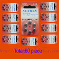 60 x Hearing Aid Batteries A13 13A ZA13 13 PR48