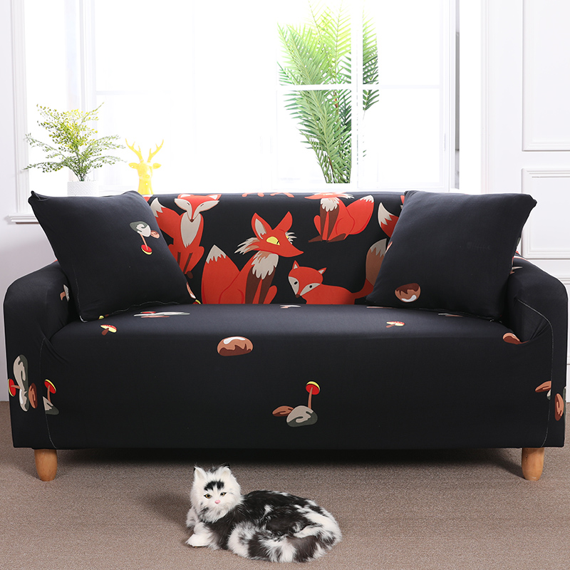 1pc Elastic Printed Sofa Covers Stretch Universal Sectional Throw Couch Corner Cover Cases For Furniture Armchairs Home Decor