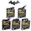 """5 unids/lote Alta calidad de The Dark Knight Batman Batmobile Tumbler Metal de Colección Modelo de Juguete 7 cm/2.8 """"Negro Juguetes de coches para Niños"""