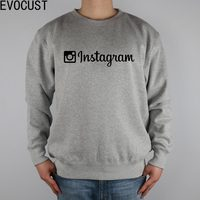 Instagram App Apple Men Sweatshirts Thick Combed Cotton
