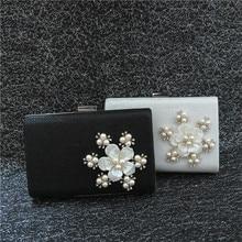 HEIßE Frauen umhängetasche perlen abend-beutel für hochzeit handtaschen handgemachte blume perlen kristallen dame party tasche