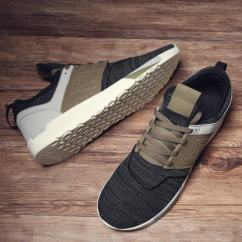 Marque Bomkinta Gris Black gray Up Hommes Tenis Lace Sneakers Couleurs Mélangées Casual 2018 brown Chaussures Brun Mâle Tendance Marche AwxqBO8rA