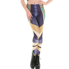DOUBCHOW Womens Stretchy Digital 3D Printed Leggings 2017 Costume Cosplay Teenagers Girls Shiny Pants Armour Rhombus Size XXXL