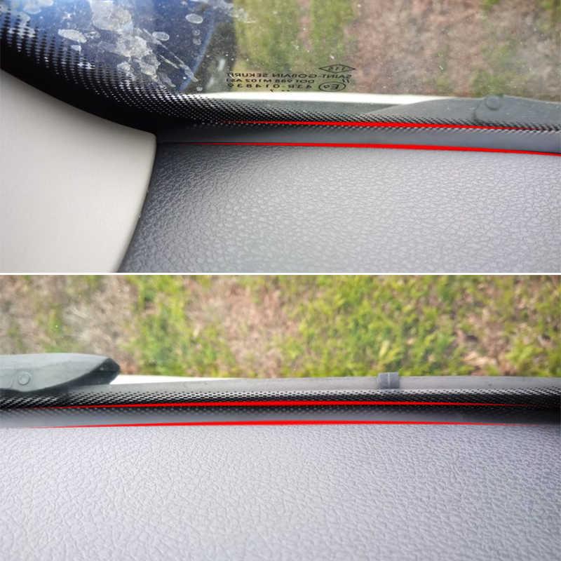 QCBXYYXH voiture-style en caoutchouc Anti-bruit insonorisé Anti-poussière voiture tableau de bord pare-brise bande d'étanchéité pour Renault Fluence 2011-2018