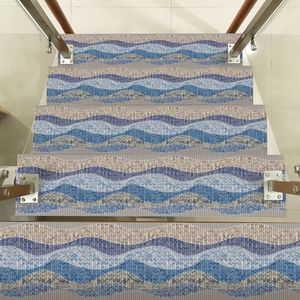 Image 3 - Heißer Wasserdicht Self Adhesive Treppen Aufkleber, Abnehmbare Küche Self Adhesive Treppen Aufkleber Fliesen Aufkleber Tapete Treppen Fl