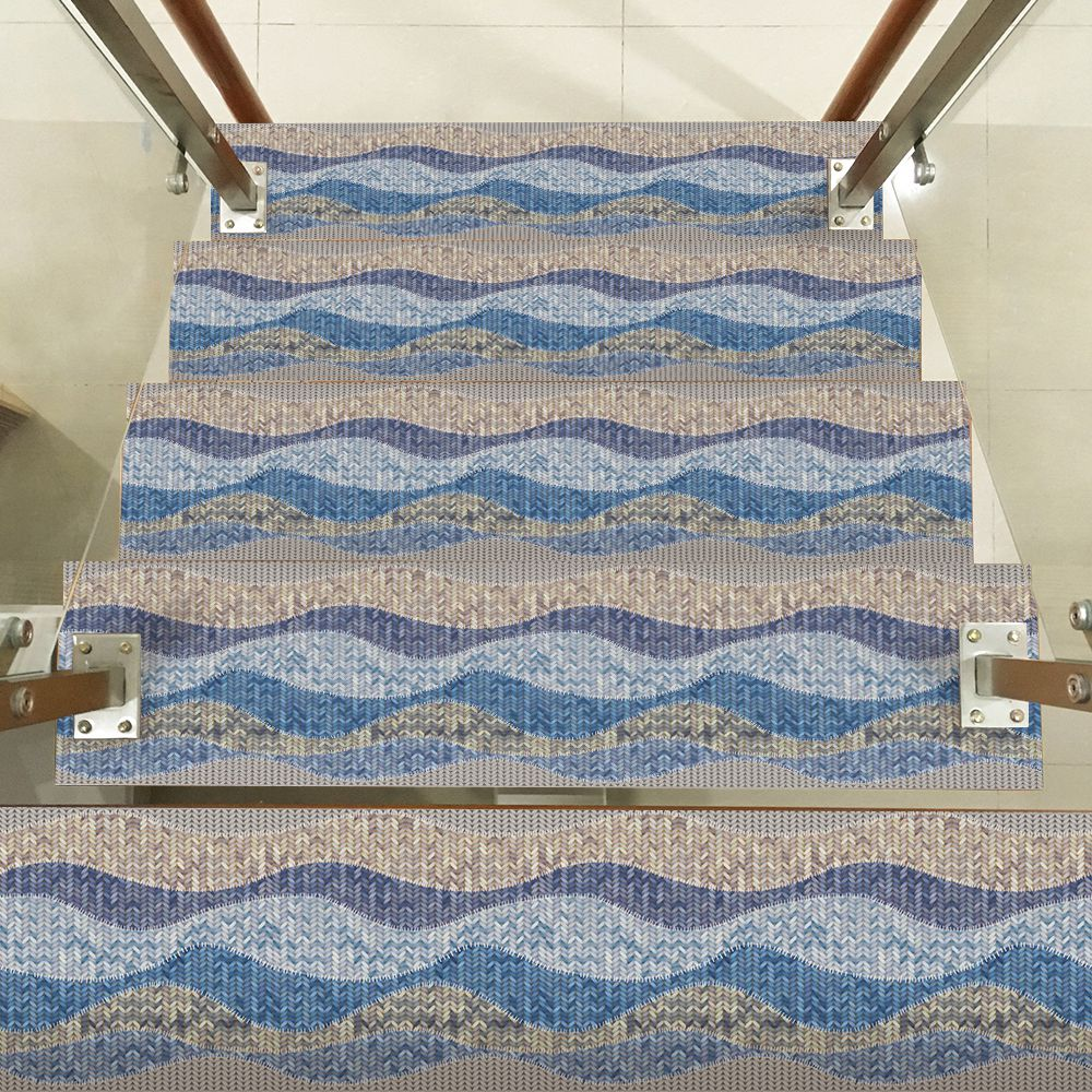 Image 3 - Hot Waterproof  Self Adhesive Stair Stickers,Removable Kitchen Self Adhesive Stair Stickers Tile Decals Wallpaper Stair Fl-in Wall Stickers from Home & Garden
