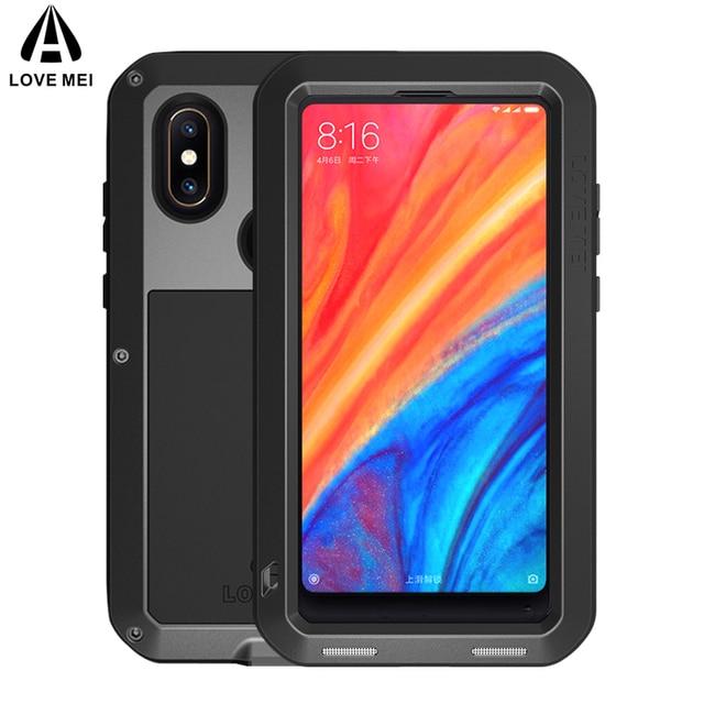 meet 407f2 771c7 US $37.33 |LOVE MEI Metal Case For Xiaomi Mi Mix 2S Mix2S Cover Aluminum  Armor Shockproof Waterproof Case For Xiaomi Mi Mix 2S Mix2S Cover-in Fitted  ...