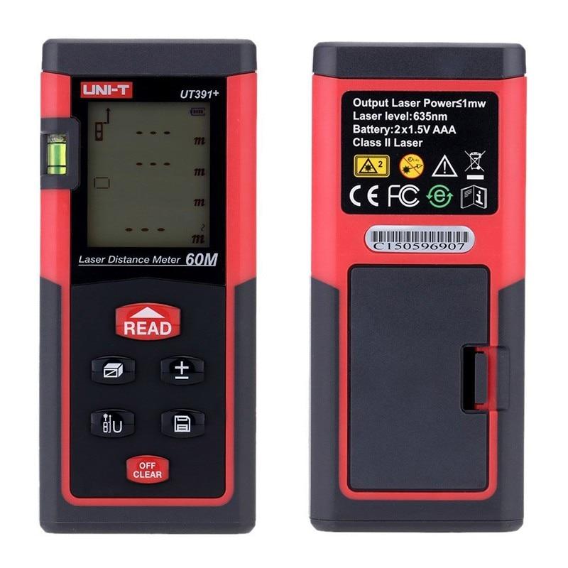 UNI T UT391+ Multi purpose Digital Laser Distance Meters 60M Range Finder