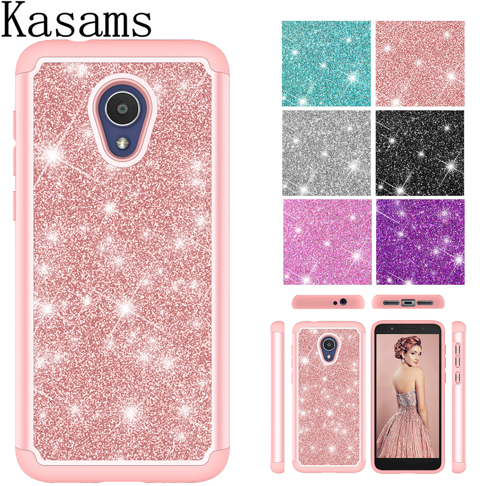 US $3 83 20% OFF|For Alcatel 1x Evolve Phone Case For Alcatel TCL LX A502DL  Glitter Bag TPU+PC Dual Layer Hybrid Cover For Alcatel IdeaXtra 5059R-in