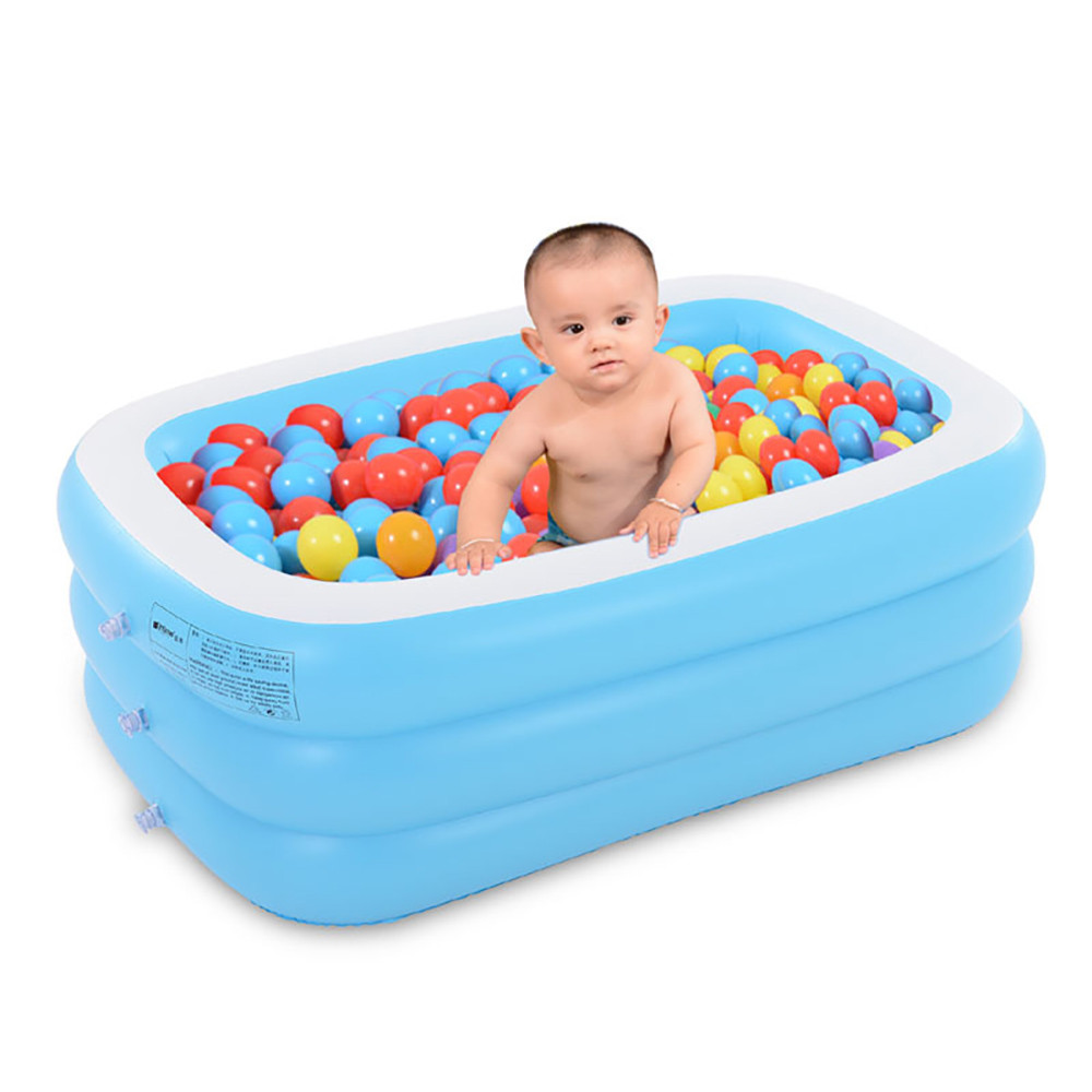 pool Large Inflatable Swimming Pool Center Lounge Family Kids Water Play Fun Backyard Toy 130*90*50CM Children's Swimming pools environmentally friendly pvc inflatable shell water floating row of a variety of swimming pearl shell swimming ring
