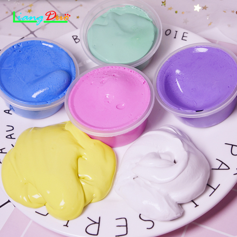 24 color Baby Speelgoed Crystal Gekleurde Klei Modder Intelligente DIY Squishy Hand Gum Slime Plasticine Rubber Modder Playdough