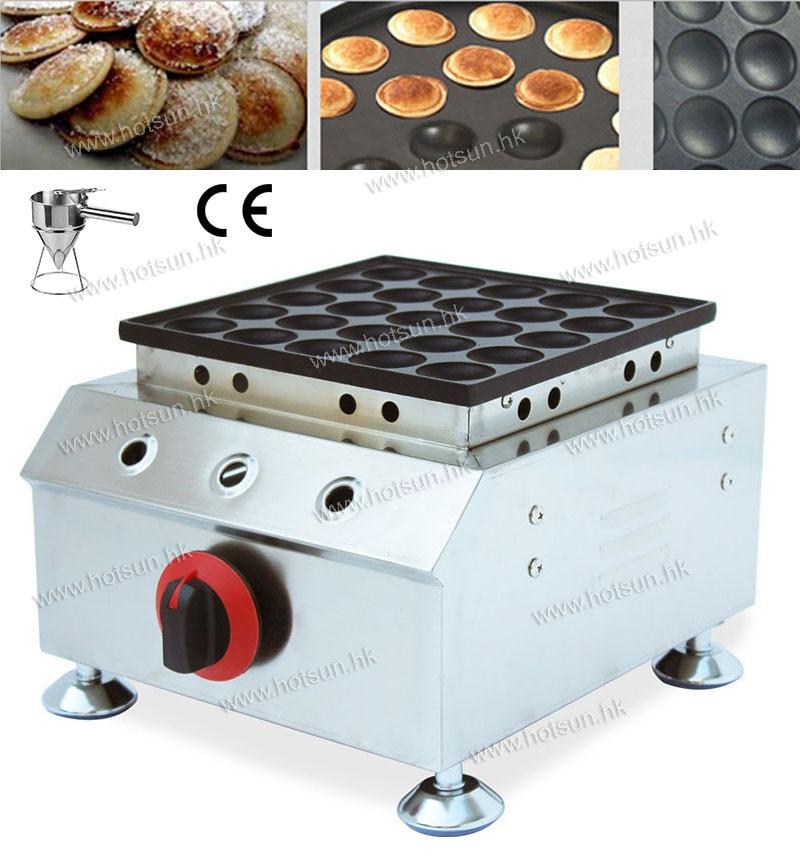 2 in 1 25pcs Commercial Mini Dutch Pancake LPG Gas Poffertjes Dorayaki Baker Maker Iron Machine + Batter Dispenser 2 in 1 non stick lpg gas dutch mini pancakes poffertjes dorayaki maker machine baker batter dispenser