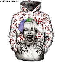 PLstar Cosmos Drop shipping 2017 The new Fashion 3d Hoodies Superhero Movie Funny Joker print Sweatshirt Men Women Hoody R4094