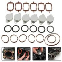 Replacement Diesel Swirl Flap Blanks Bungs with Intake Manifold Gaskets for BMW 6pcs 33mm bungs