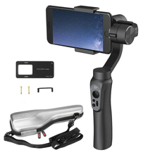 Zhiyun Smooth Q 3-Axis Handheld Gimbal Stabilizer for Smartphone under 6.0 Inches 220g Payload with GoPro Clip Cramp