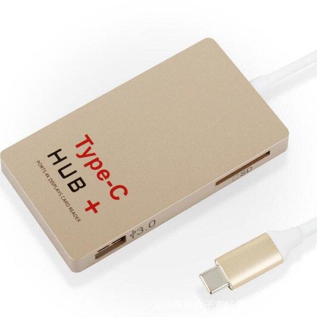 Бесплатная доставка Тип c концентратор + PD зарядки hub usb3.0hub type-c тип карт-ридер + c 4 К hdmi
