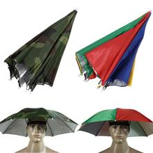 2 Color Umbrella Hat Cap Sun Shade Camping Hiking Outdoor Parasol Umbrella Hat Cap Outdoor
