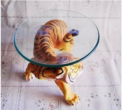 Merveilleux Size 29*18*18cm Resin Animal Tiger Scalpture Tea Small Table,Coffee Table  Fruit Plates/Dishes/Tray Home Decoration Free Shipping In Storage Trays  From Home ...