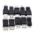 Оптовая 10 шт. OTG 5pin F/M Changer Адаптер Конвертер USB Мужчина к Женский Micro USB Высокое Качество