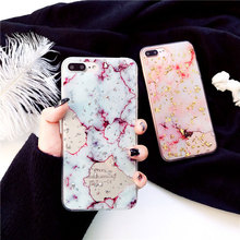 Luxury Gold Foil Bling Marble Phone Case For iPhone X XS Max XR Soft TPU Cover 7 8 6 6s Plus Glitter