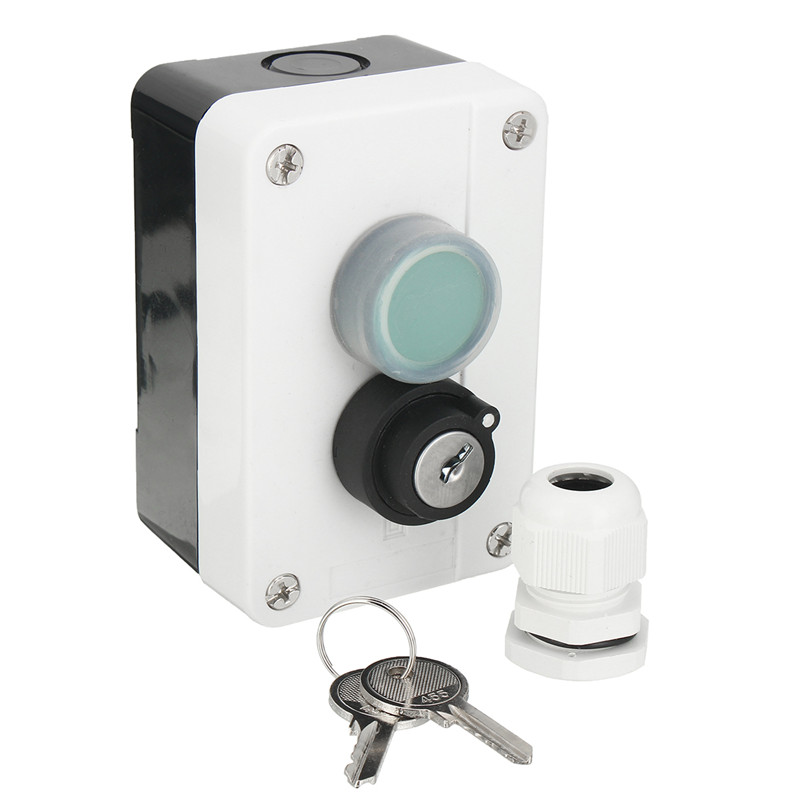 Weatherproof Push Button Switch WIth Keys for Automatic Gate Opener New push button switch xb4 series zb4bg2 zb4 bg2