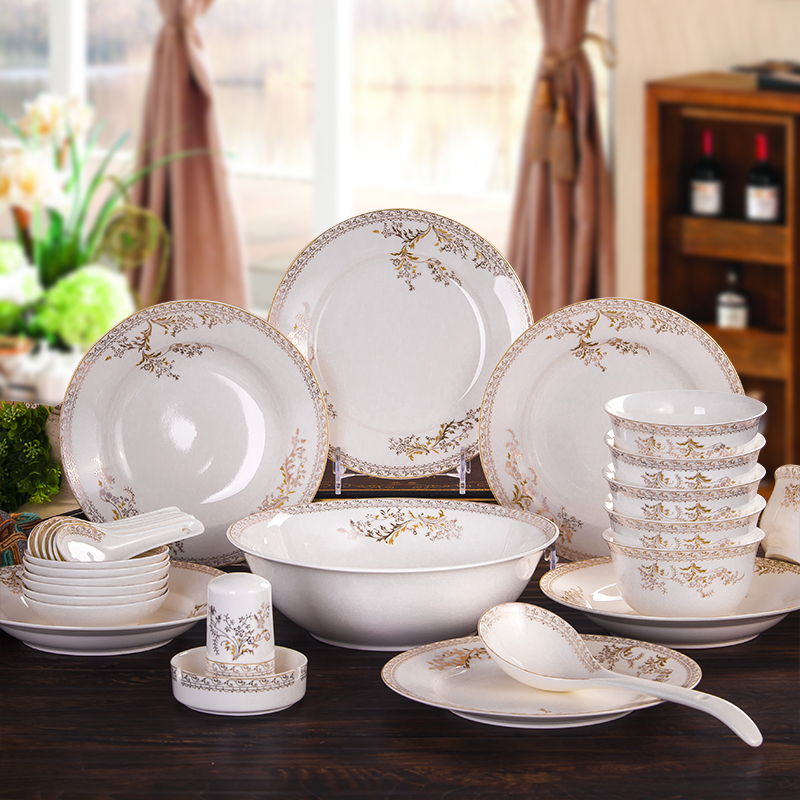 Freeshppping Hot Sale fine china dinnerware setsporcelain dinner set Swan Lake-in Dinnerware Sets from Home \u0026 Garden on Aliexpress.com | Alibaba Group & Freeshppping Hot Sale fine china dinnerware setsporcelain dinner ...