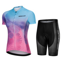 Summer Women Cycling Jersey Set Mountain Bike Clothing Racing Bicycle Clothes Ropa Ciclismo Girls Cycle Set Bib Short Pants недорго, оригинальная цена