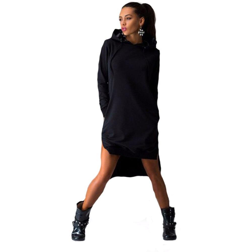 4e54b6793f42e € 25.04 |2016 Nouveau Pull Femmes Automne Hoodies De Mode Mini Robe À  Manches Longues Dames Sweat À Capuche Femmes À Capuche Survêtements Robes  ...