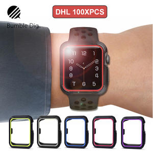 3b45e10c29417 100 PCS Universal Cover for Apple Watch Slim Silicon Protective Case