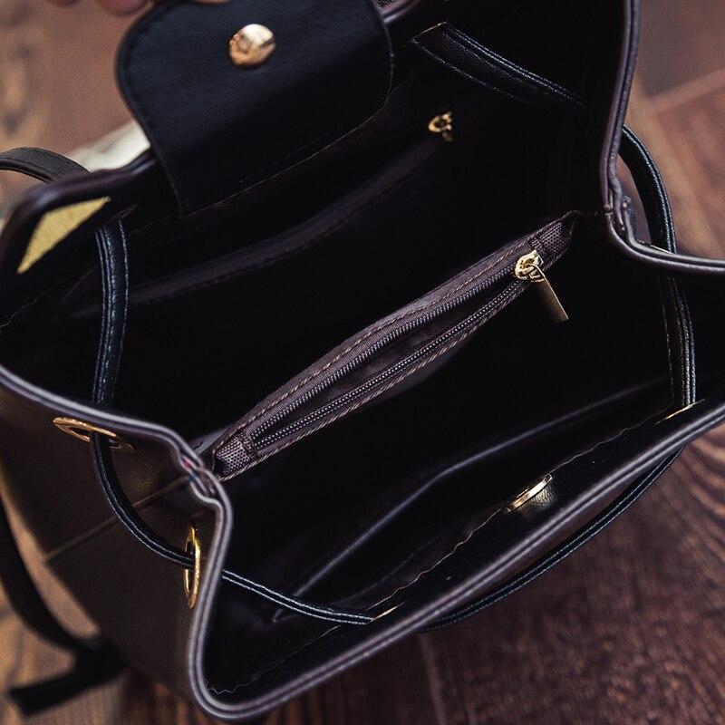 aresland kitty cat moda senhoras Feature 2 : Leather Bag Rivet Shoulder Bag